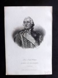 Bentley 1859 Antique Portrait Print. Louis Jospeh Philippe, Duke of Orleans